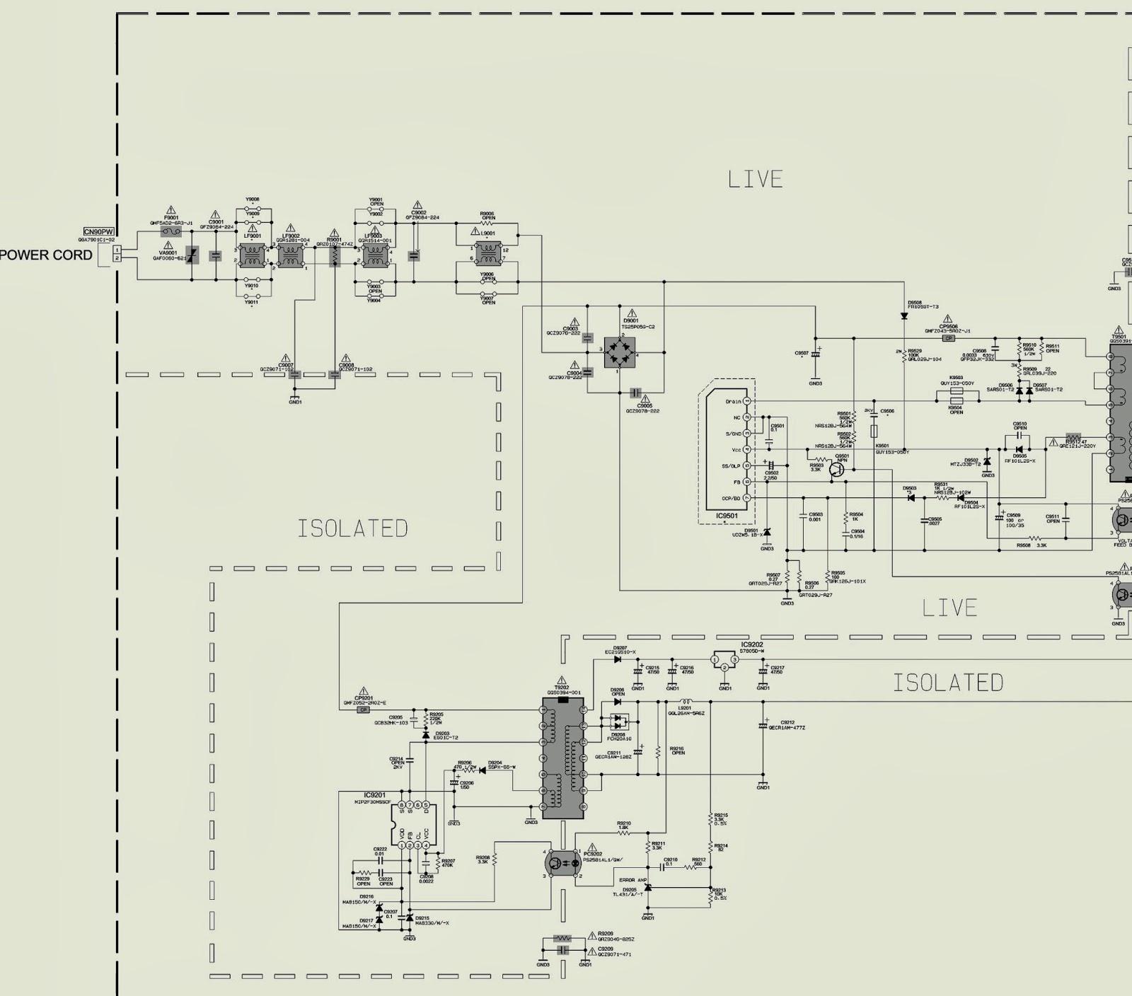 Electro help: JVC LT-37A80SU, LT-37A80ZU - Power Supply ...