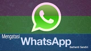 Solusi Mengatasi Aplikasi Whatsapp Telah Berhenti Sendiri