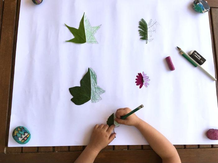 manualidades, diy, crafts, actividades infantiles primavera motricidad fina simetria hojas flores