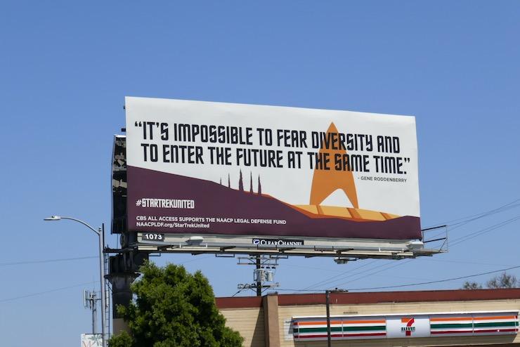 fear diversity Star Trek united billboard