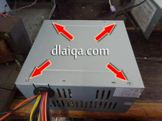 pasang kembali penutup power supply
