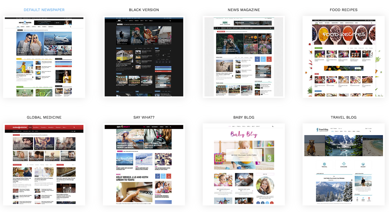 Wordpress Subcategory Template 13 Fresh One Page Wordpress Templates