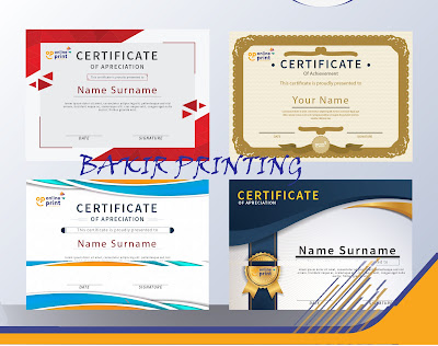 tempat print sertifikat murah di Jakarta