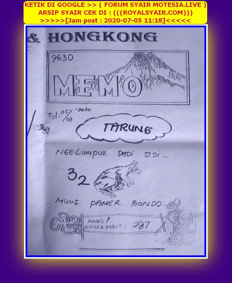 Kode syair Hongkong Minggu 5 Juli 2020 79