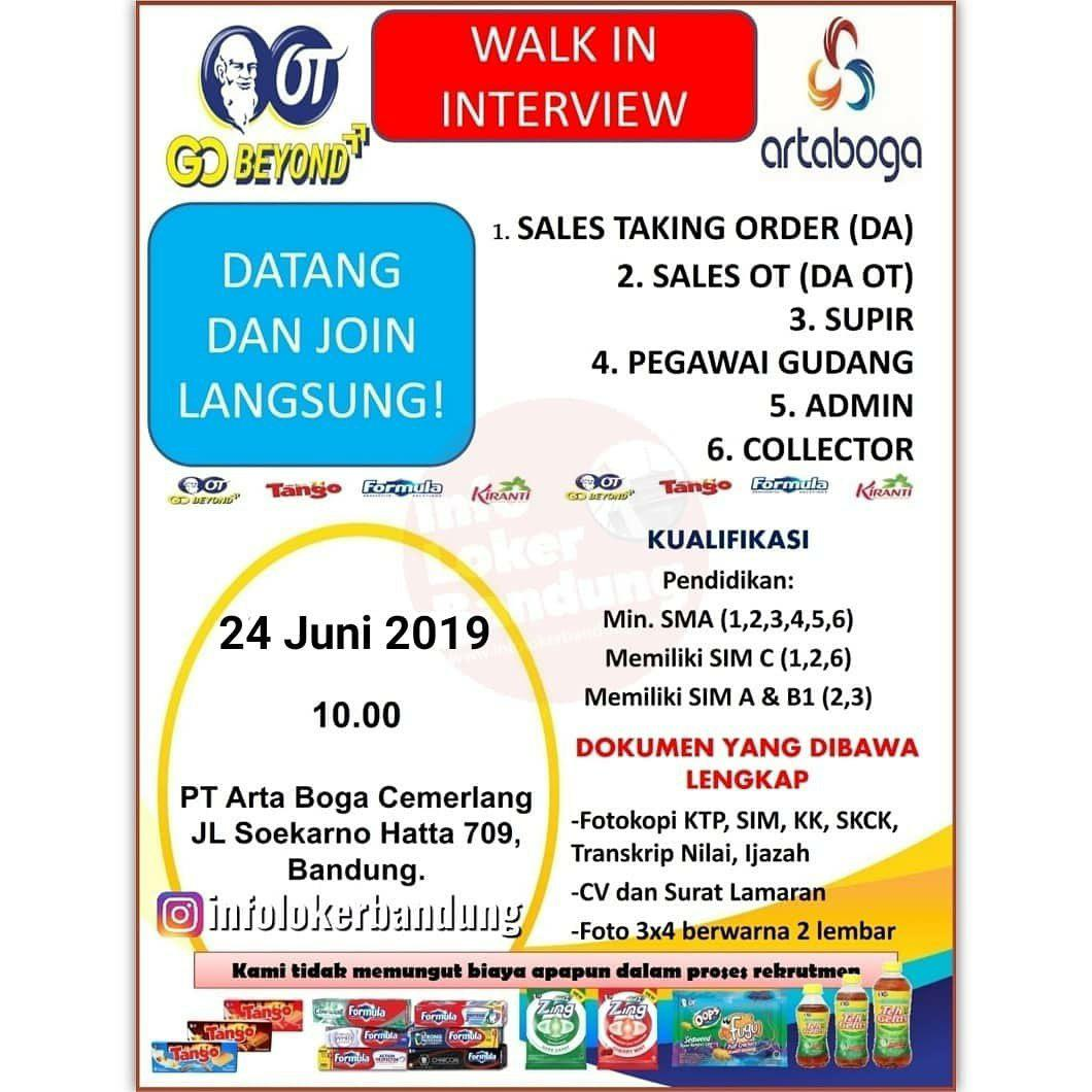 Walk In Interview 24 Juni 2019 PT. Arta Boga Cemerlang