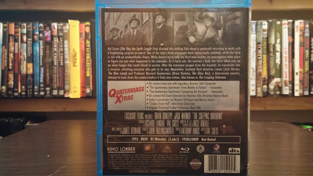 Back Cover for the Kino Lorber Version of Quatermass Xperiment