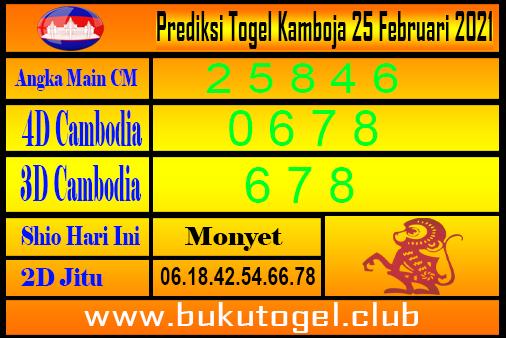 Prediksi Togel Kamboja 25 Februari 2021
