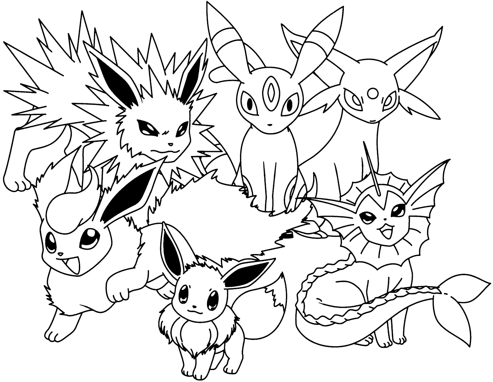 - Eevee Coloring Pages Printable - Free Pokemon Coloring Pages