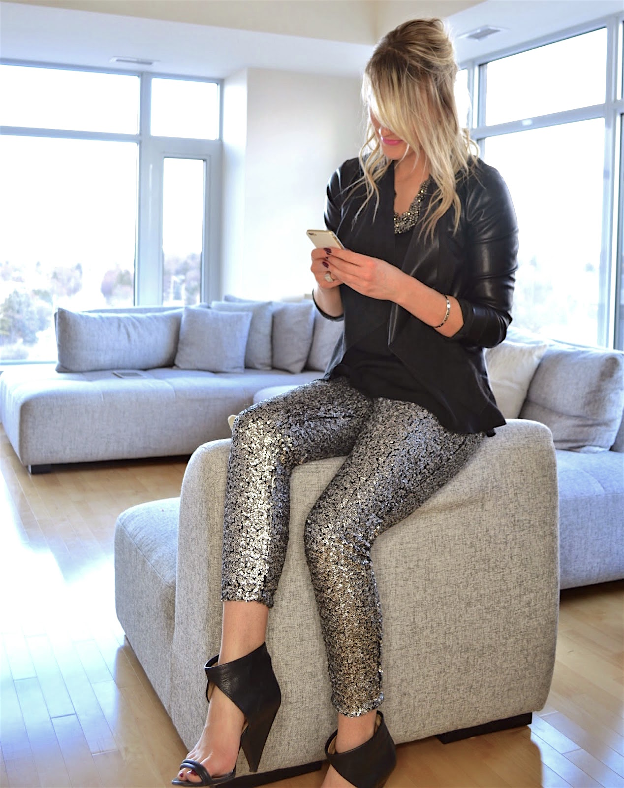 how to wear sequin pants