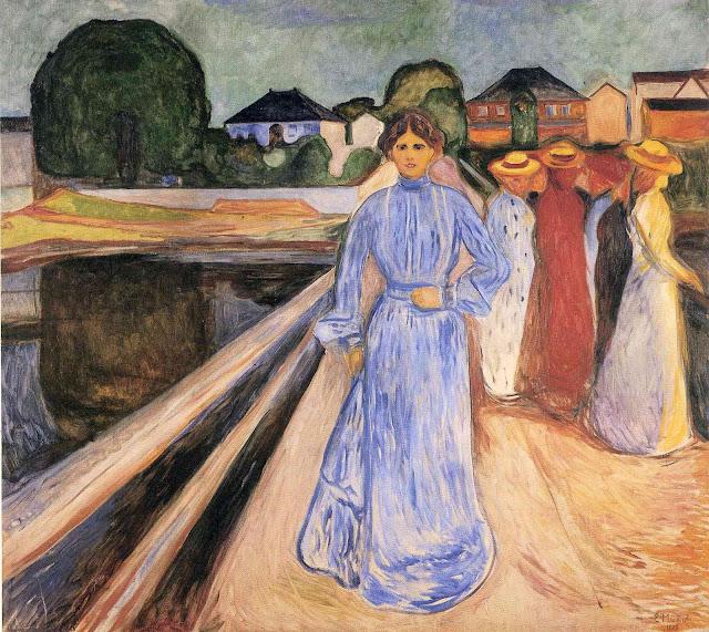Эдвард Мунк - Женщины на мосту. 1902
