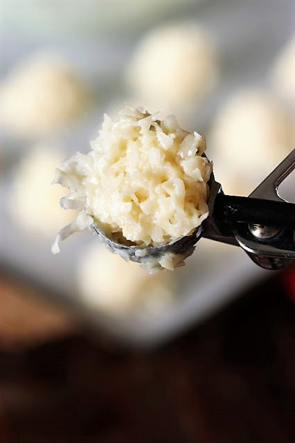 Cookie Scoop of Coconut Macaroons Dough Image