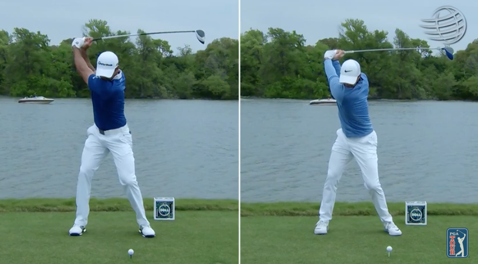 Video Side By Side In Slow Motion Jason Day And Rory