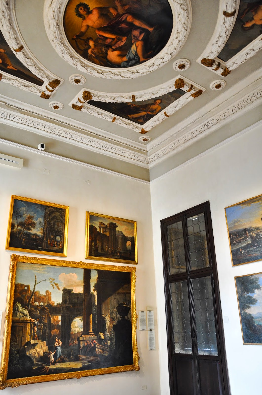 room filled with art Civic Art Gallery Palazzo Chiericati Vicenza Italy