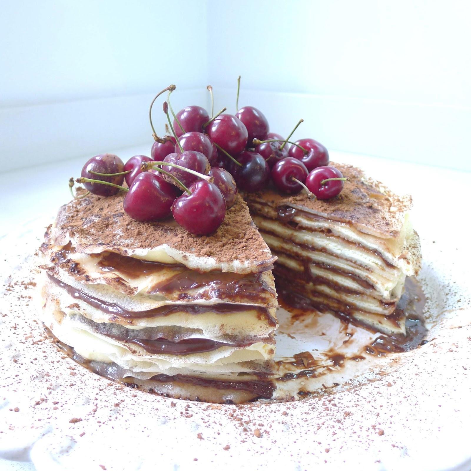 Undomestikated Nutella Pancake Cake