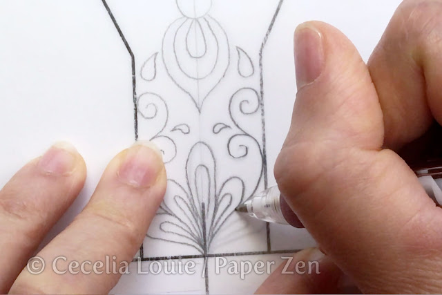 quilling letter y mandala pattern tutorial - how to trace pattern