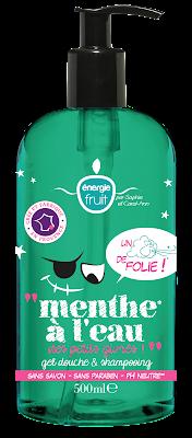 Menthe à l'eau gel douche et shampoing de Energie Fruit
