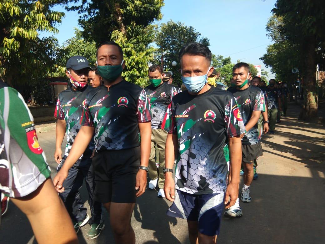 Jaga Kebugaran Tubuh, Prajurit Kodim Batang Jalan Santai Bersama