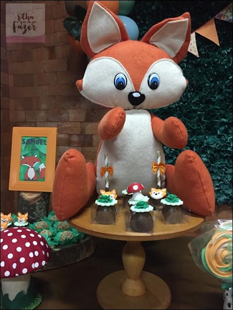 decoração raposinha