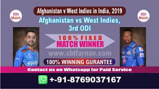 Afghanistan v West Indies in India, 2019 WI vs AFGH 3rd ODI Match Prediction Today Reports