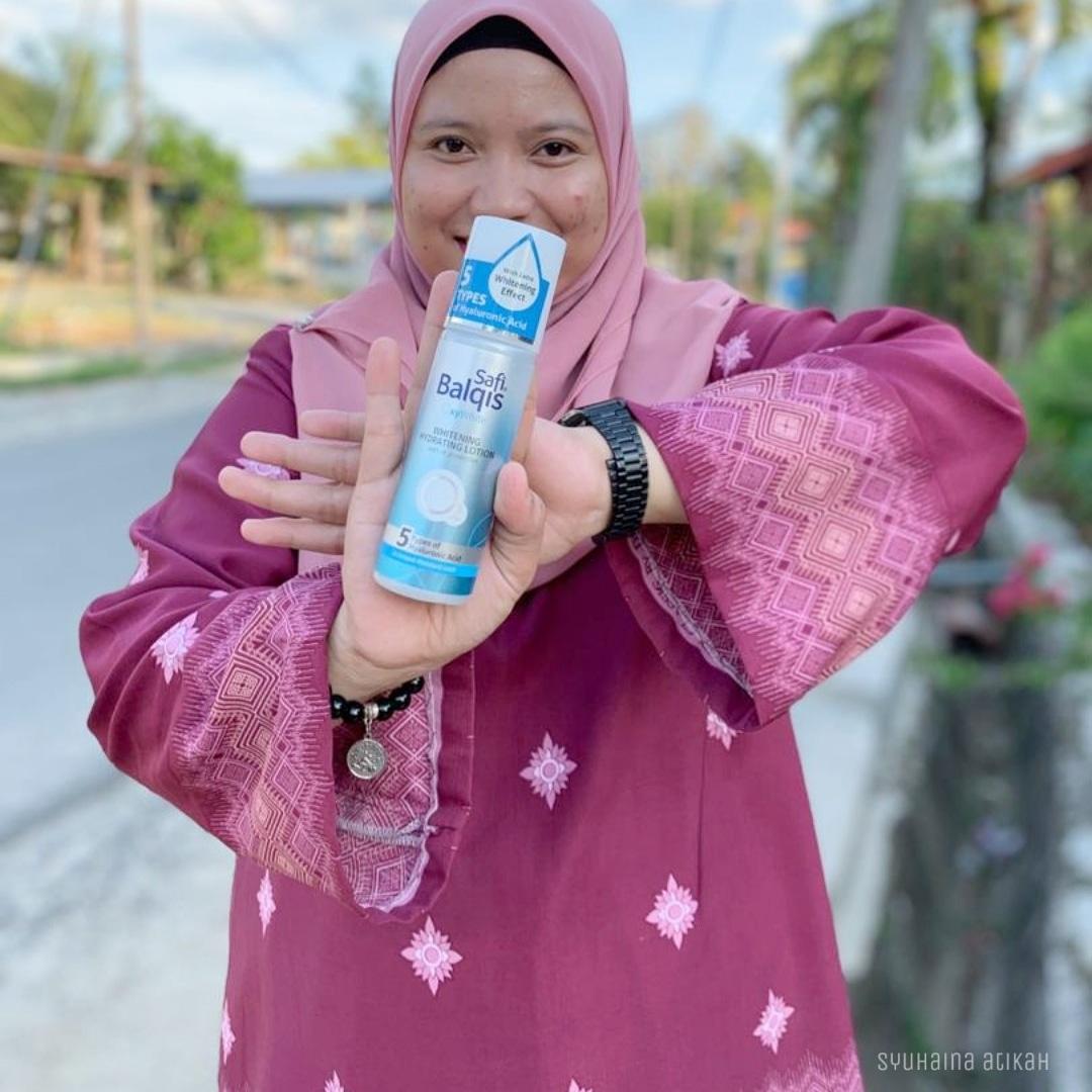 Safi Balqis Oxywhite Whitening Hydrating Lotion Dua Dalam Satu