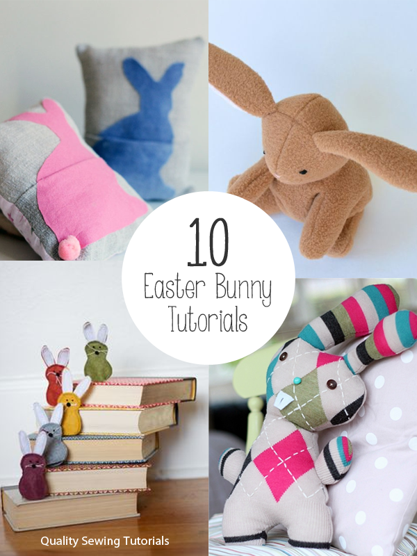 10 Easter Softie Bunny Tutorials