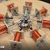 8 Cylinder Radial Solenoid Engine.