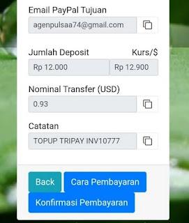 Rincian Pembayaran Deposit