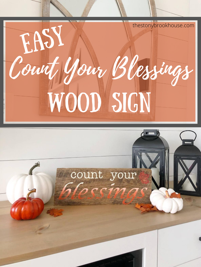 Easy Count Your Blessings Wood Sign