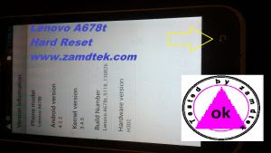 LENOVO A678T ANDROID HARD RESET
