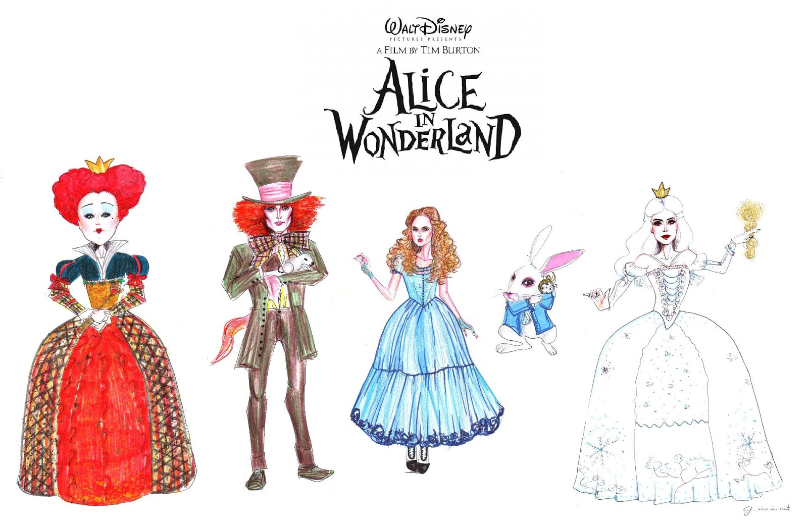 alice in wonderland characters compared to Alice is a fictional character and protagonist of lewis carroll's children's novel alice's adventures in wonderland (1865) and its sequel, through the looking-glass (1871) a child in the mid-victorian era.