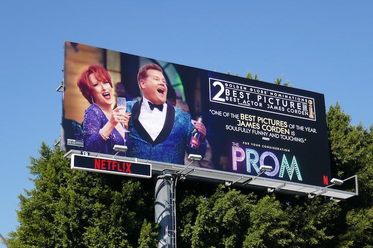 Prom Golden Globe nominee billboard