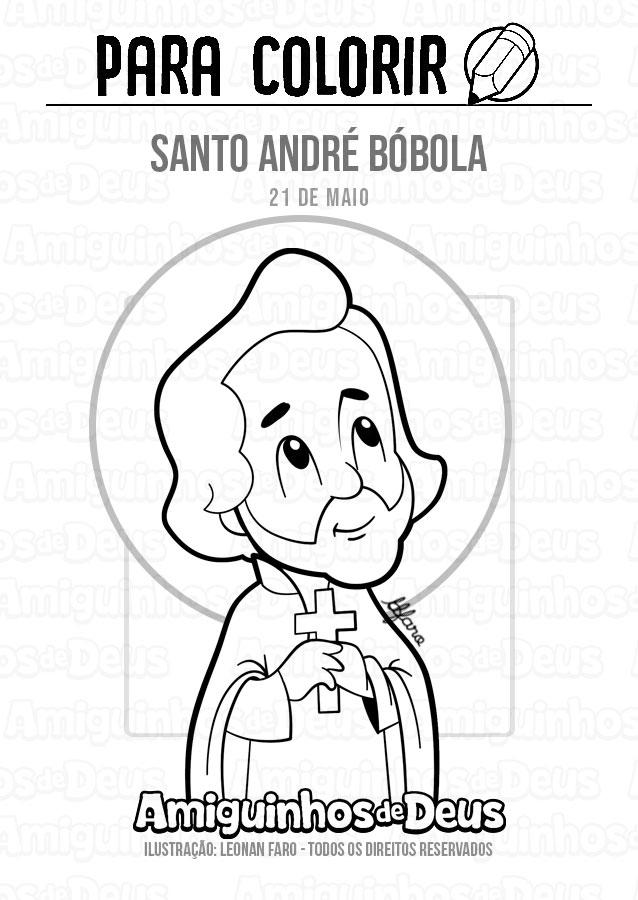 Santo André Bóbola desenho para colorir