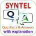 SYNTEL Written Test: Aptitude, Reasoning, English; Questions and Answers with Explanations
