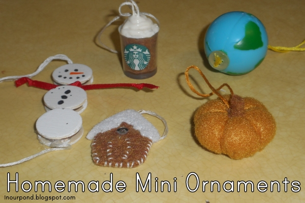 DIY Mini Ornaments from In Our Pond