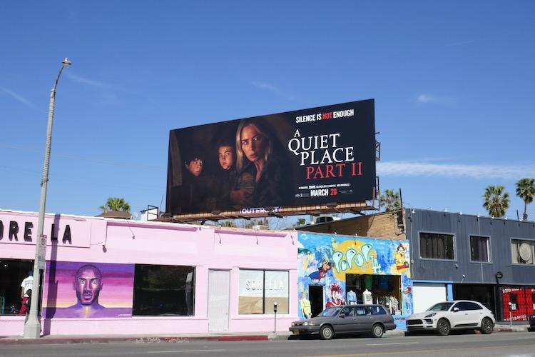 A Quiet Place Part II billboard