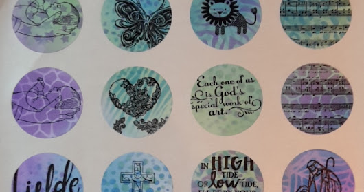 Selfmade Bible journaling stickers