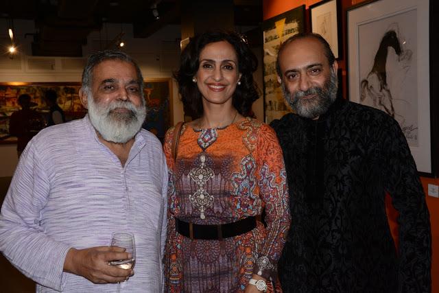 Suneet Chopra, Entrepreneur Shivani Wazir Pasrich and Artist Sanjay Bhattacharya
