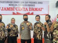 GM FKPPI Jambi Hadiri Silaturahmi Ormas dan OKP Bersama Polda dengan Tema Jambi Cinta Damai