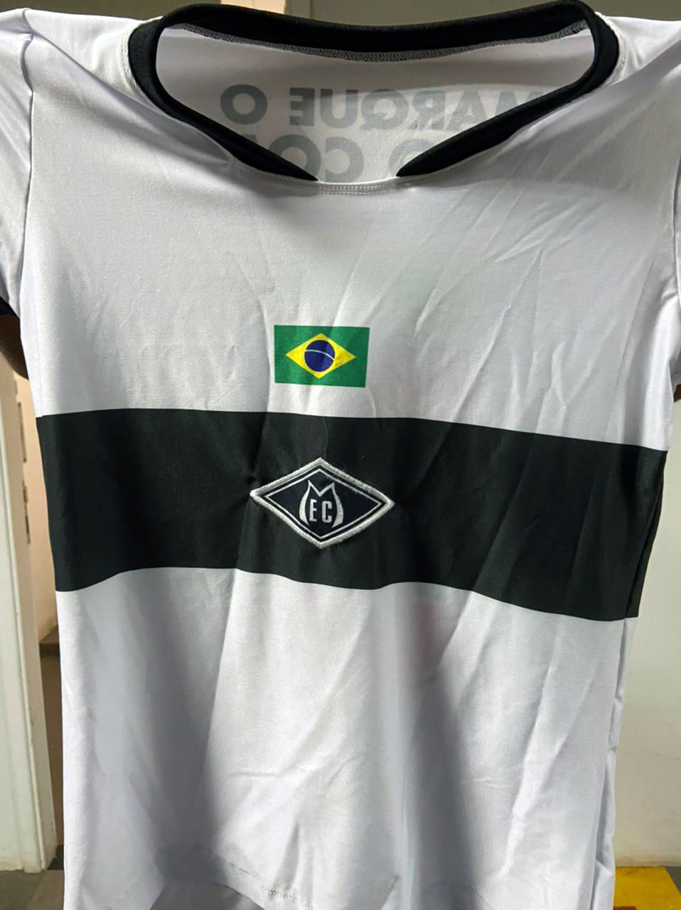 Camisa uniforme de futebol
