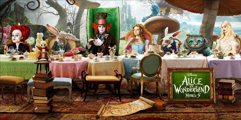 Cat Love Alice In Wonderland Wallpaper Hd