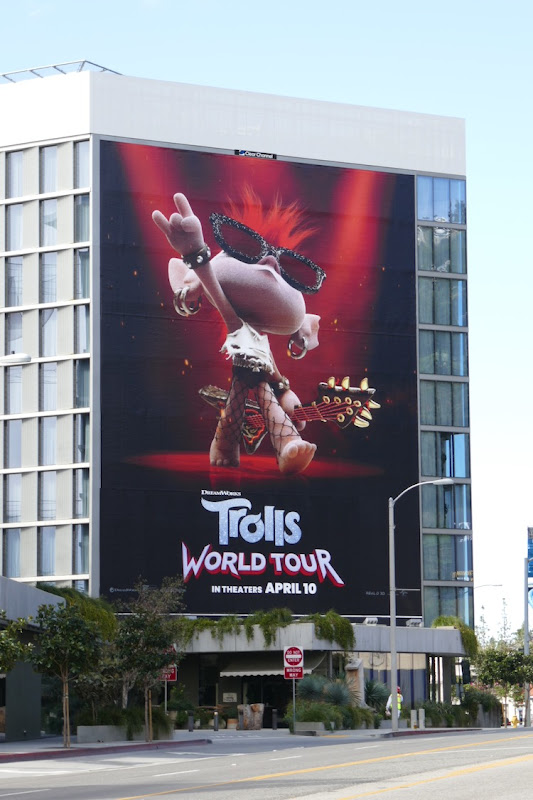 Giant Trolls World Tour movie billboard