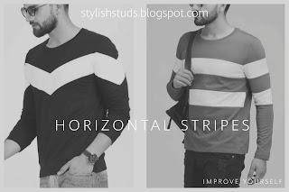 Two guys wearing horizontal stripes t-shirts