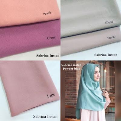 jilbab langsung pakai polos