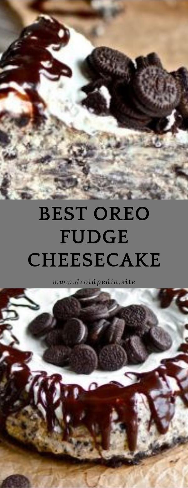 BEST Oreo Fudge Cheesecake #dessert #cheesecake