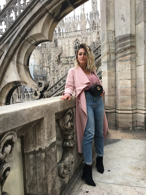 Milan, Milano, italy, roadtrip Italy, oversized dress, purple boots, midi dress, how to wear midi dress, pink coat, mom jeans, how to wear mom jeans, floral dress, floral H&M dress, toronto fashion blogger, canadian fashion blogger