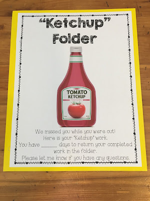 "When students are out sick, it's hard to keep track of work they miss. TheHappyTeacher's ""Ketchup Folder"" can help you manage the chaos and stay organized."