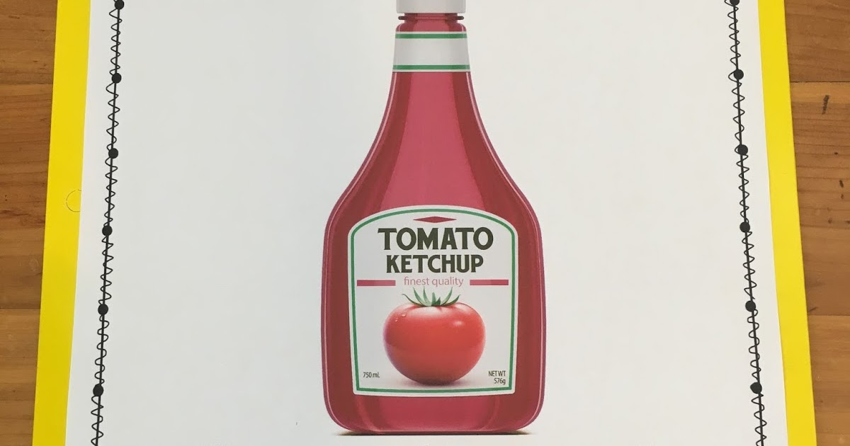 Ketchup Folder Thehappyteacher
