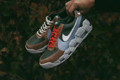 huge discount 33ede 95dab The footwear frankensteins two iconic basketball silhouettes, Nike s Air  Force 1 and Air More Uptempo ...