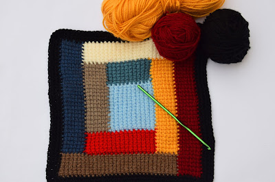 Crochet Imagen Colcha de restos de lana a crochet y ganchillo por Majovel Crochet
