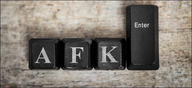 المفاتيح A و F و K و Enter من لوحة مفاتيح الكمبيوتر.